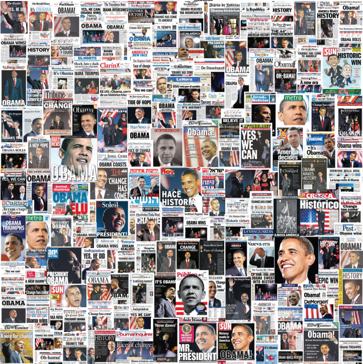 Another President Elect Obama Newspaper Front Page Collage
