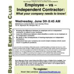 Chuck Krugel Presentation-Independent Contractors (1099s) Versus Employees (W-2s) Classification Concerns; 6/5/13